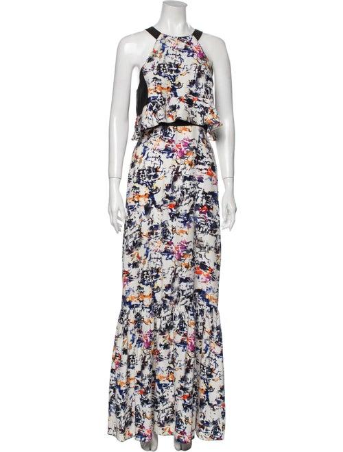 Parker Silk Long Dress White
