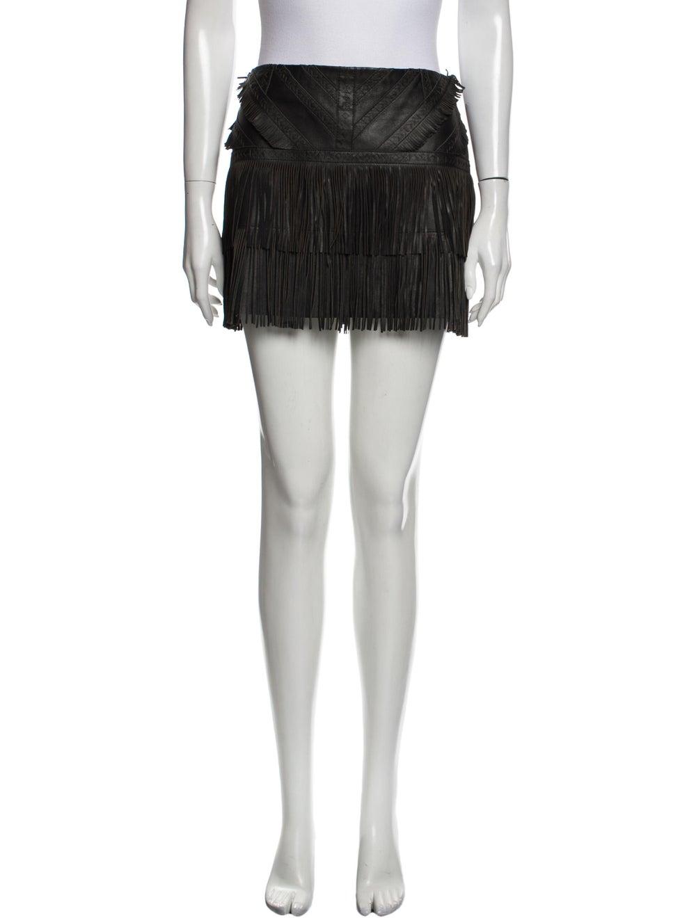Parker Leather Mini Skirt Black - image 1