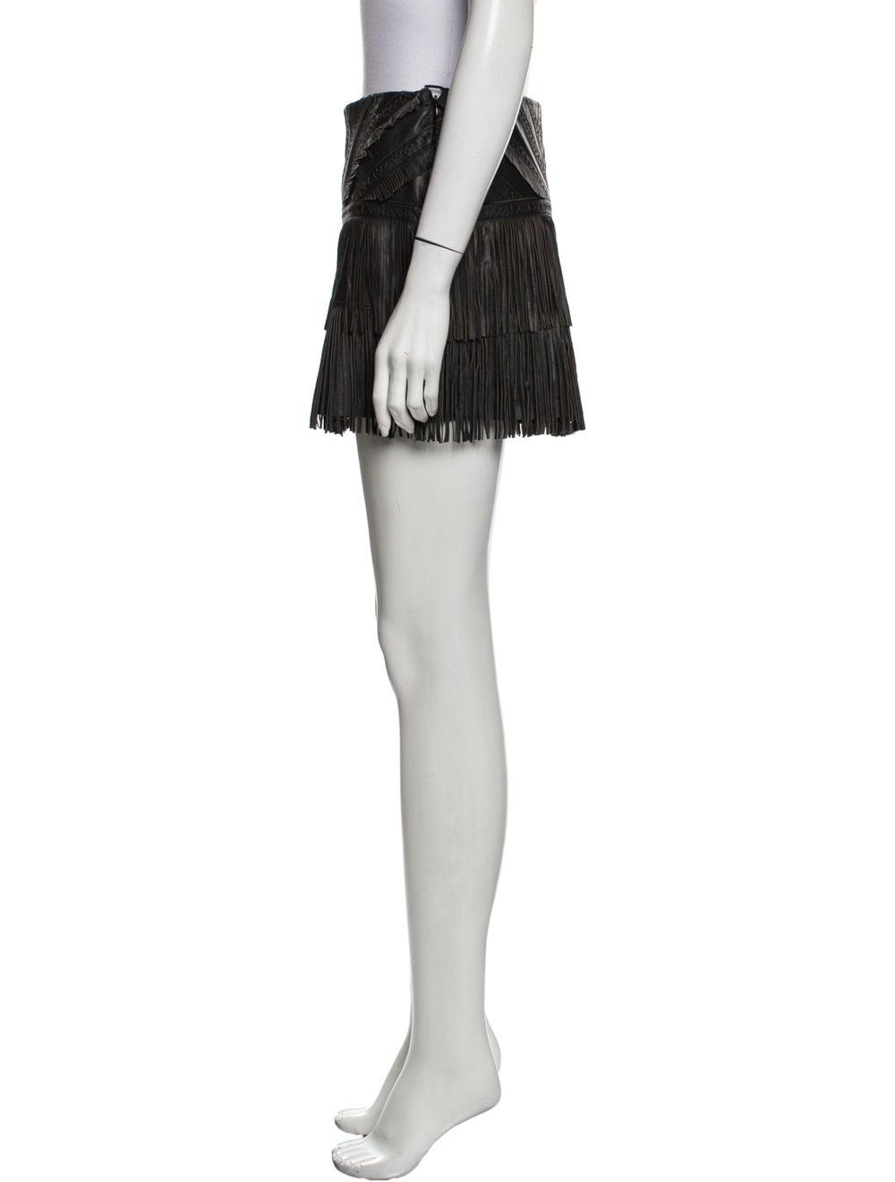 Parker Leather Mini Skirt Black - image 2