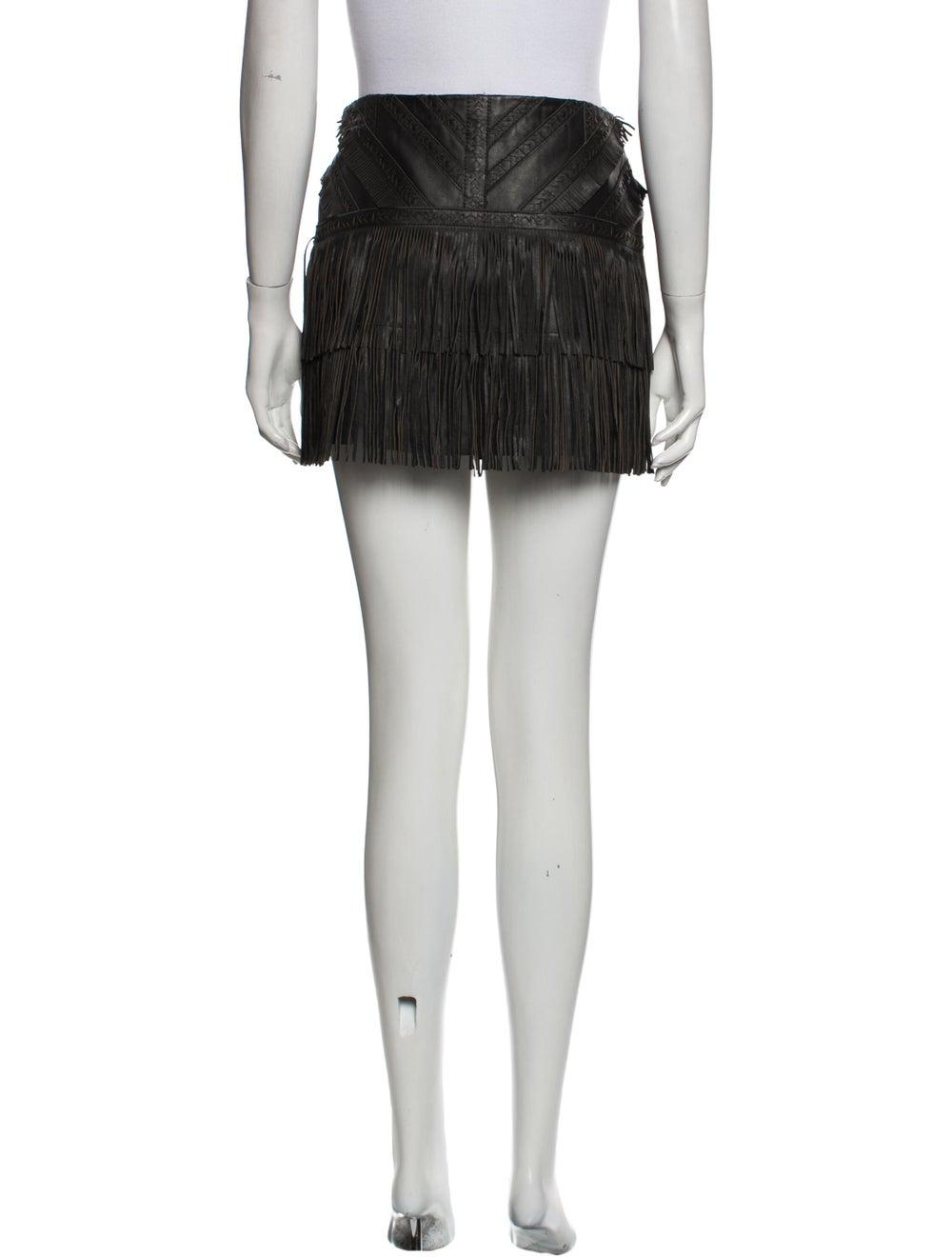 Parker Leather Mini Skirt Black - image 3