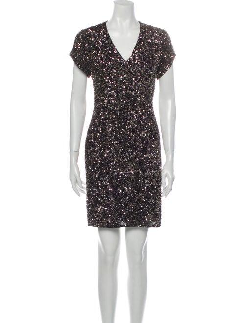 Parker Black Silk Mini Dress Black