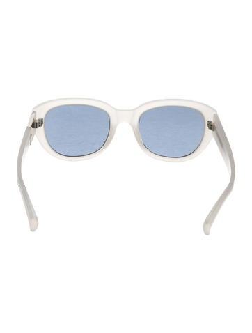 Frosted Oval Sunglasses