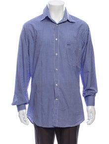 Paul & Shark Plaid Print Long Sleeve Dress Shirt