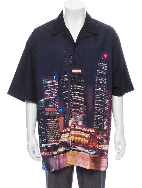 Pleasures Printed Short Sleeve Shirt Black