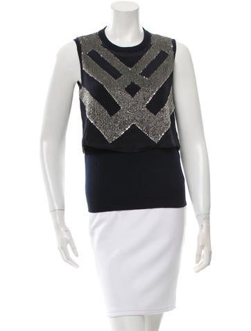 M.PATMOS Embellished Wool Top None