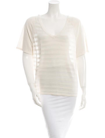 M.PATMOS Silk Knit Top None