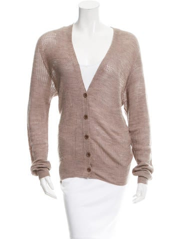 M.PATMOS Wool Open Knit Cardigan None