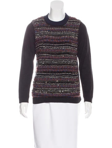 M.PATMOS Embellished Wool Sweater None