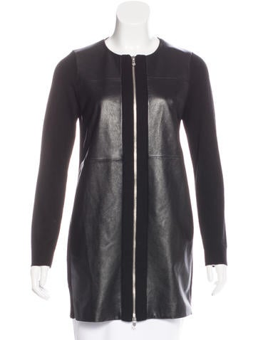 M.PATMOS Wool & Leather Jacket None