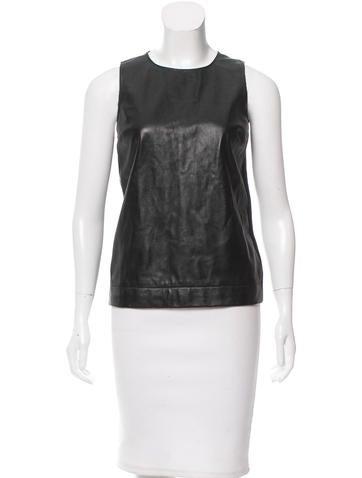 M.PATMOS Leather-Paneled Merino Wool Top None