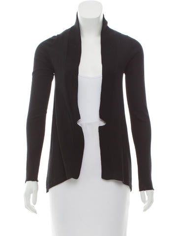 M.PATMOS Wool Open Front Cardigan None