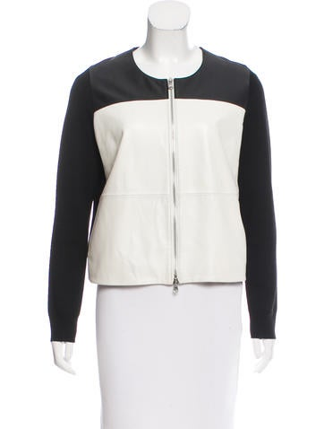 M.PATMOS Colorblock Leather-Paneled Sweater None