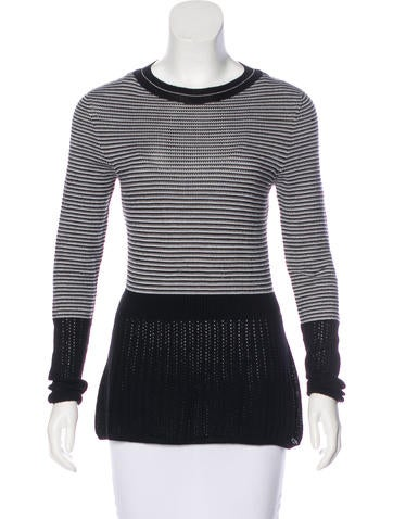 M.PATMOS Long Sleeve Wool Knit Top None