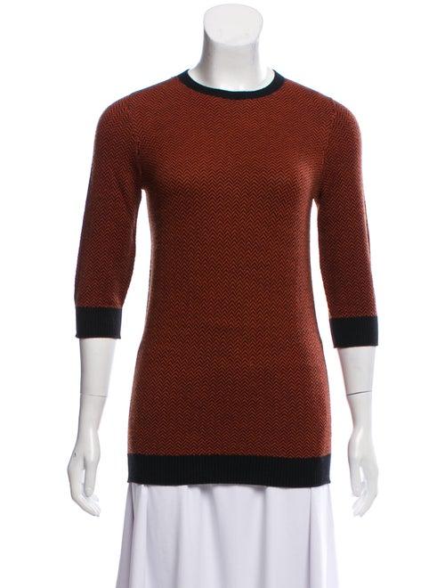 M.patmos Chevron Print Sweater brown