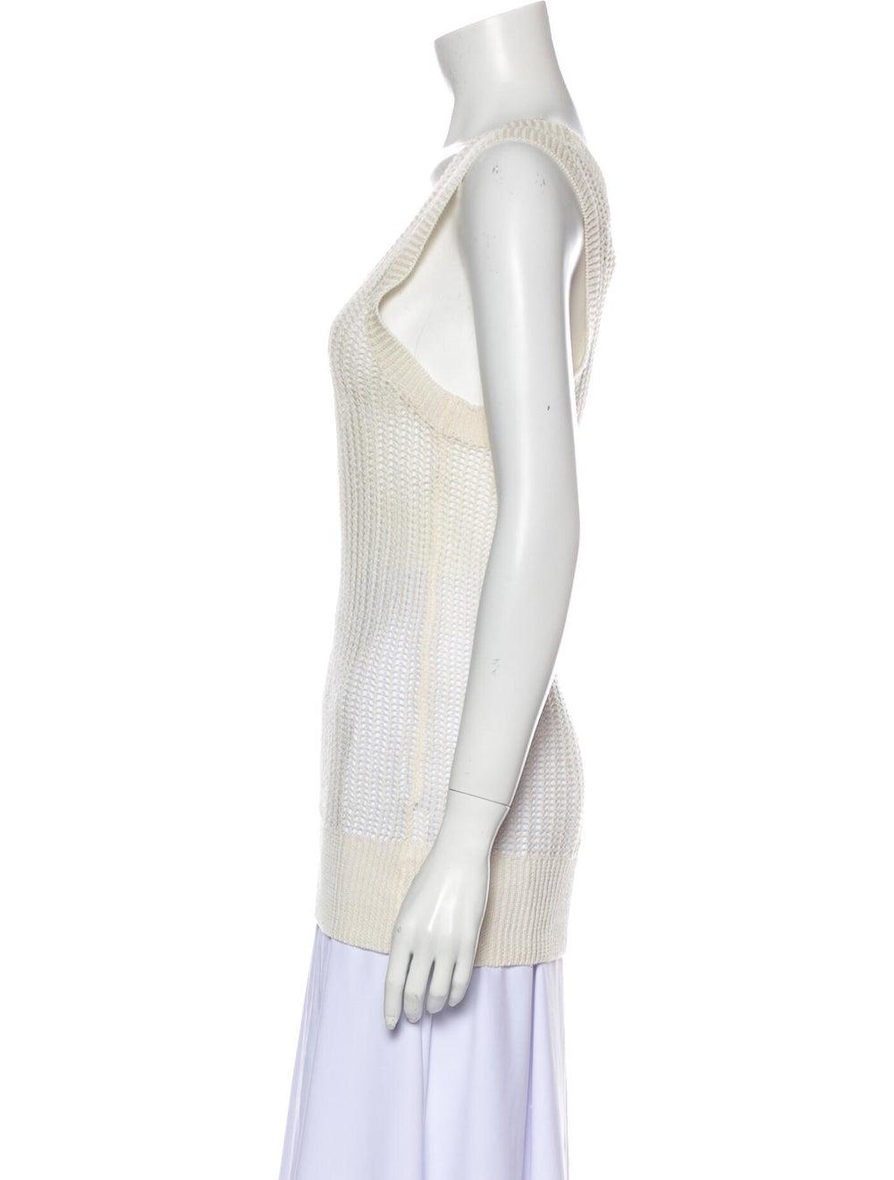 M.patmos Linen Scoop Neck Sweater White - image 2