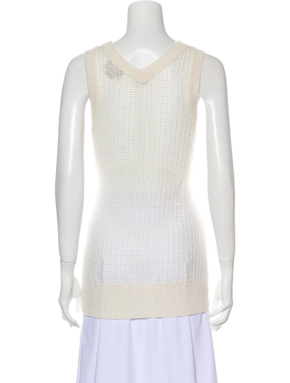 M.patmos Linen Scoop Neck Sweater White - image 3