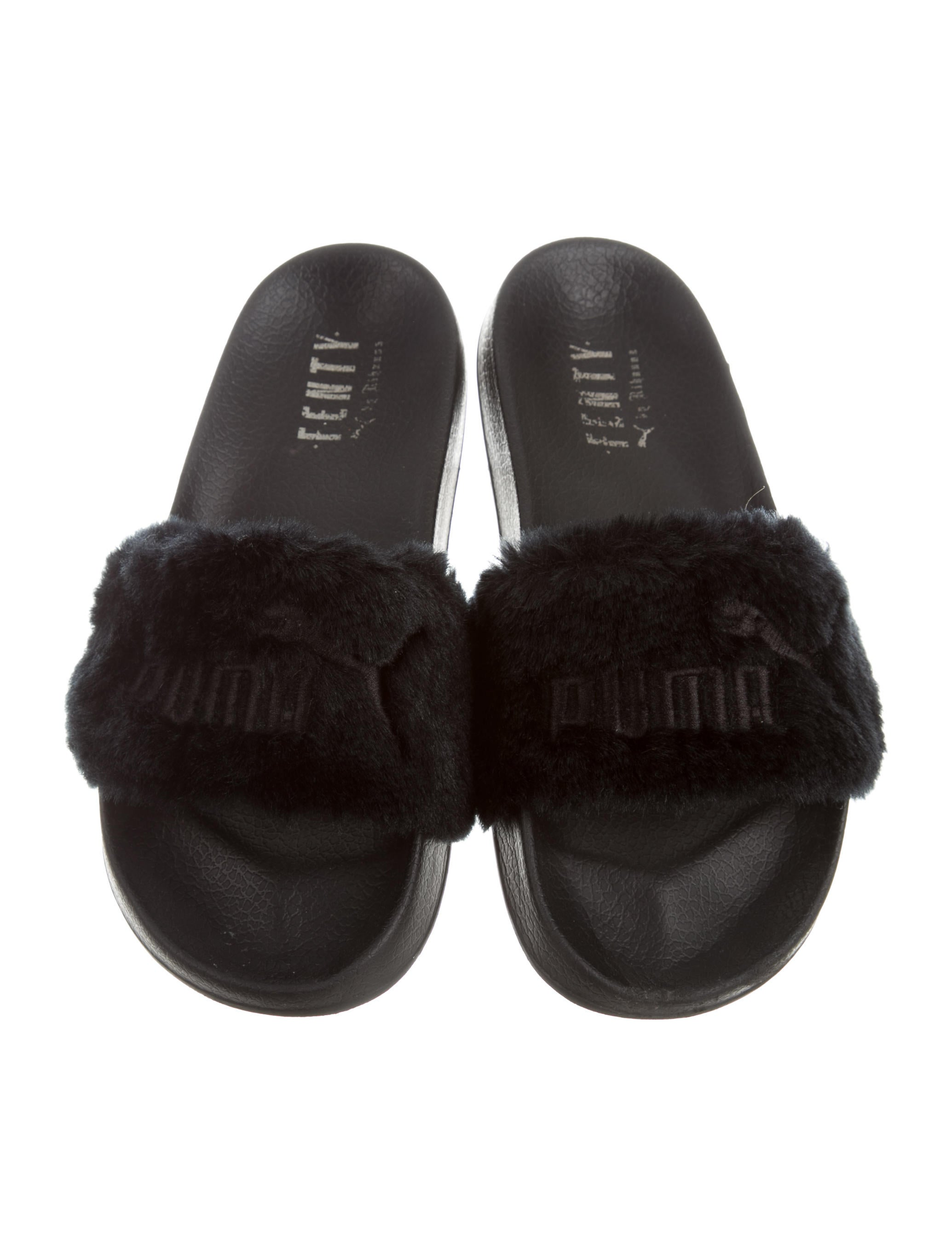 puma x fenty leadcat faux fur sandals shoes wpmfy20153 the realreal. Black Bedroom Furniture Sets. Home Design Ideas
