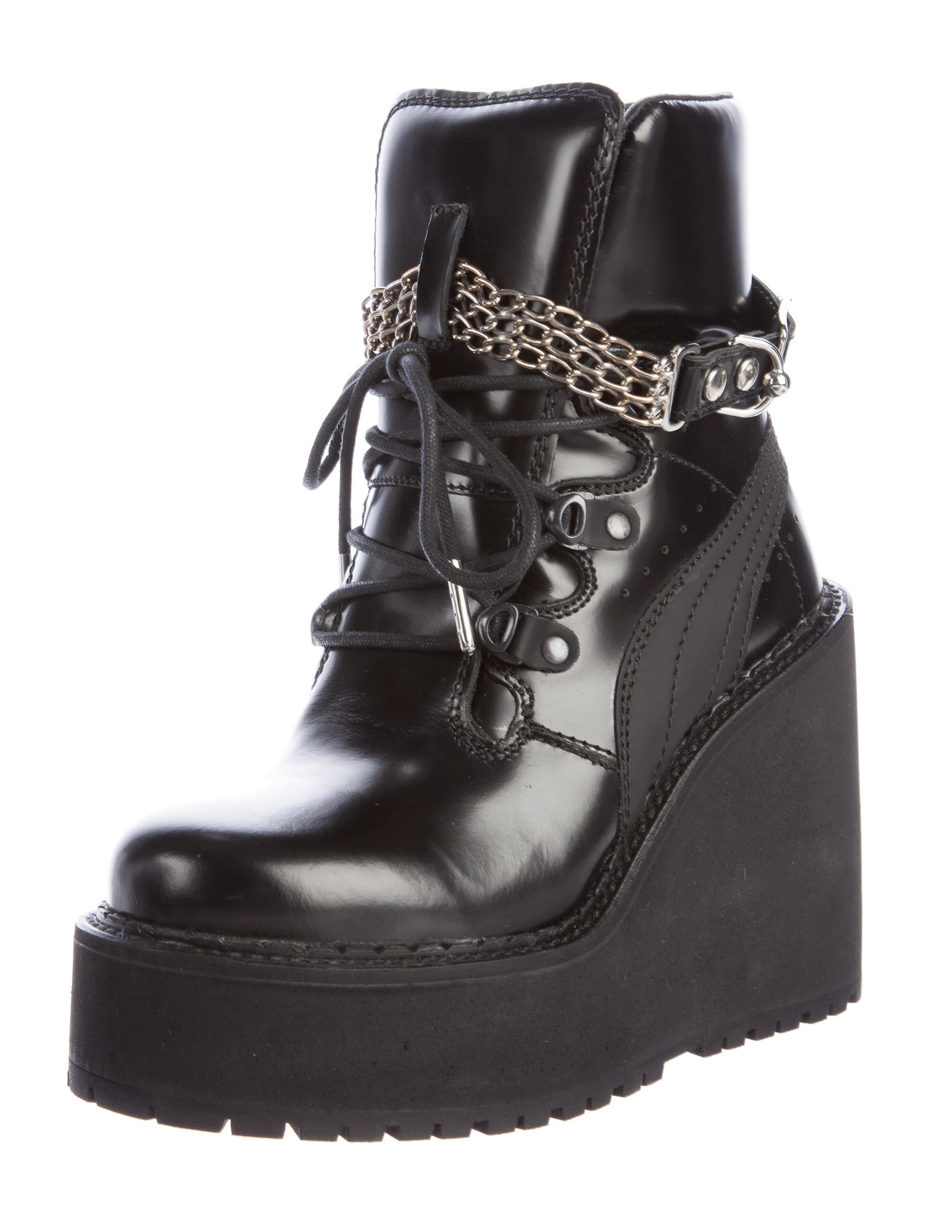 buy cheap collections Fenty x Puma Chain-Link Wedge Boots w/ Tags cheap newest clearance discounts cheap cheap online ZpZD9