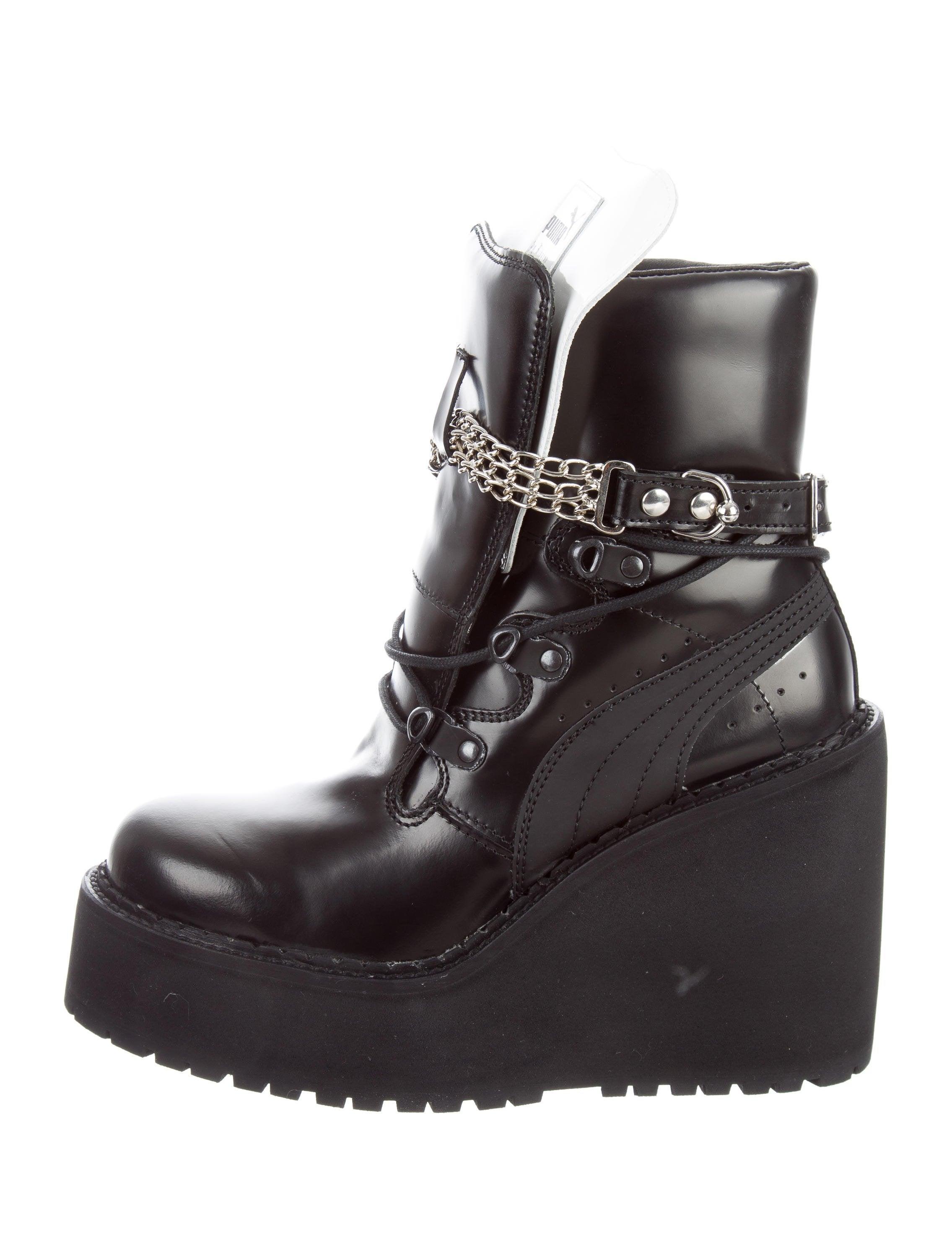 sale amazon online cheap price Fenty x Puma Chain-Link Wedge Boots w/ Tags JuLz04SO