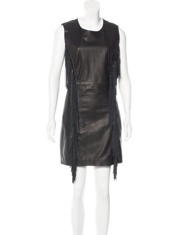 Pam & Gela Sleeveless Leather Dress None
