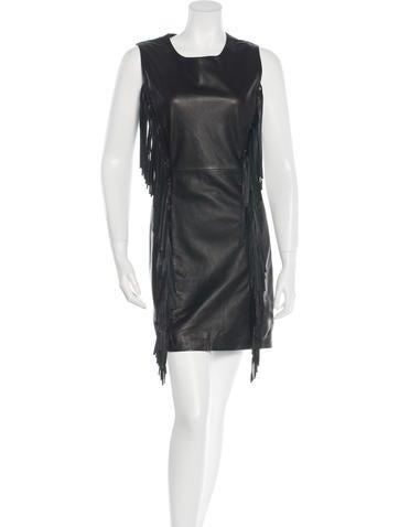 Pam & Gela Sleeveless Leather Dress w/ Tags None