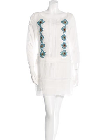 Pam & Gela Embroidered Shift Dress None