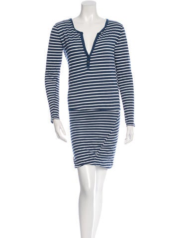 Pam & Gela Long Sleeve Striped Dress None