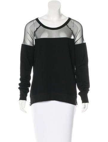 Pam & Gela Mesh-Trimmed Jersey Sweatshirt w/ Tags None