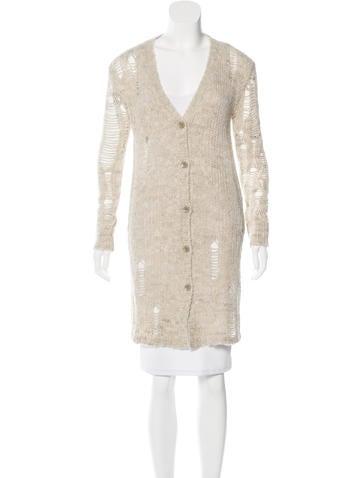 Pam & Gela Shredded Knit Cardigan w/ Tags None