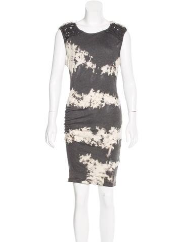 Pam & Gela Tie-Dyed Braided Dress None