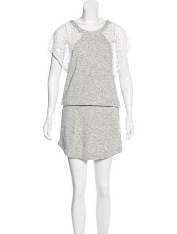 Pam & Gela Lace-Trimmed Mini Dress None