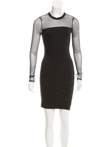 Pam & Gela Long Sleeve Ruched Dress w/ Tags None