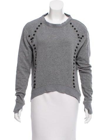 Pam & Gela Embellished Cutout Sweatshirt None