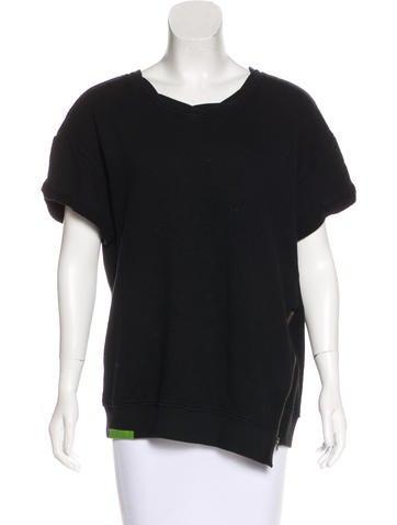 Pam & Gela Asymmetrical Oversize Sweatshirt None