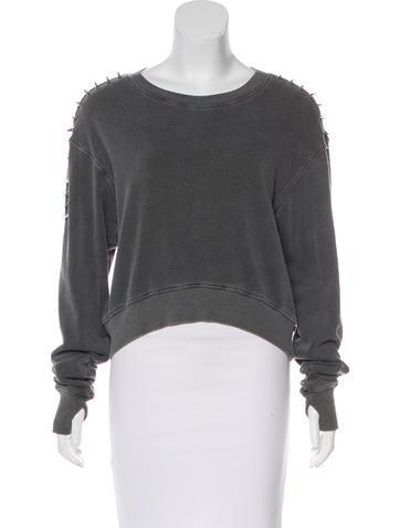 Pam & Gela Embellished Long Sleeve Sweatshirt None