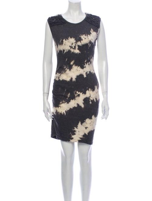 Pam & Gela Tie-Dye Print Mini Dress Grey