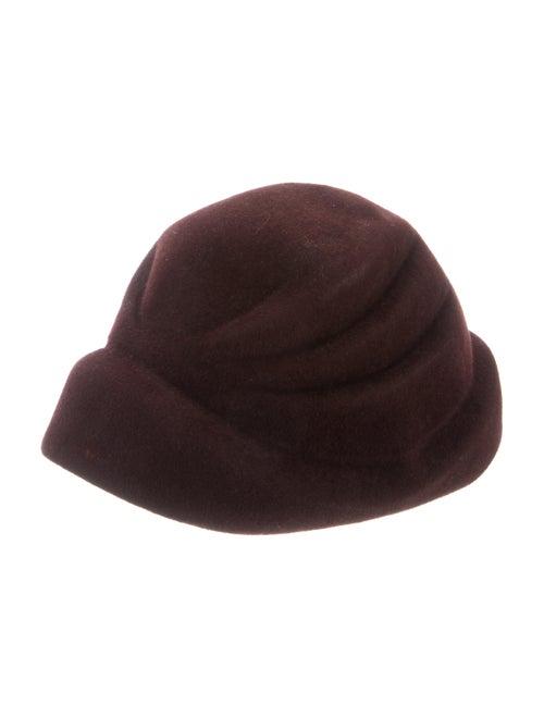 Philippe Model Felt Pillbox Hat