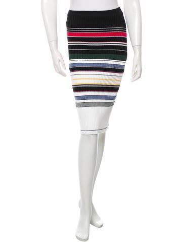 Preen Line Rib Knit Pencil Skirt w/ Tags None