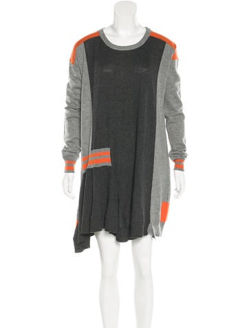 Preen Line Colorblock Merino Wool Dress None