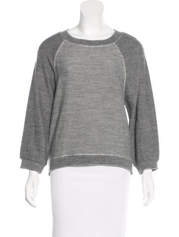 Pinko Metallic Rib Knit Sweater None