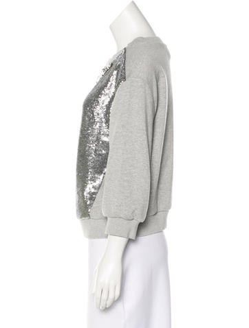 Embellished Sequined Sweatshirt