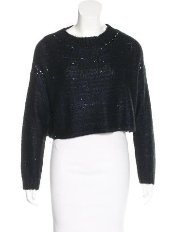 Pinko Sequined Cropped Sweater None