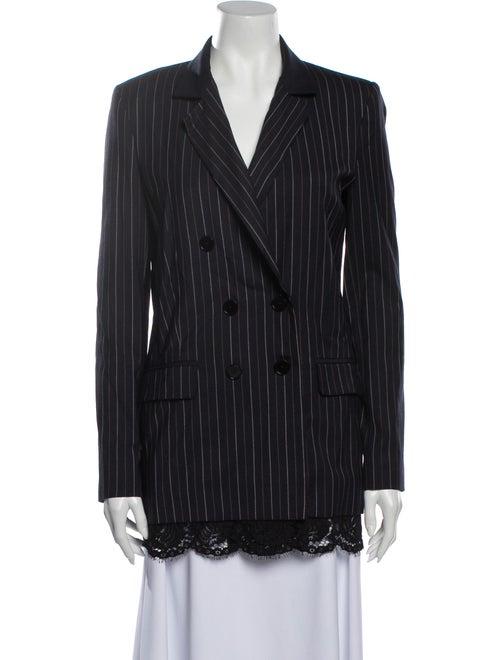 Pinko Striped Coat Blue