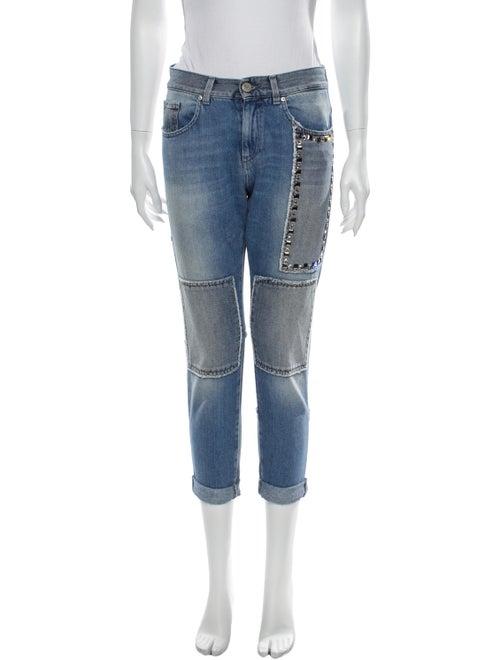 Pinko High-Rise Skinny Leg Jeans Blue