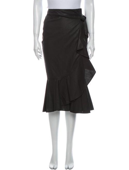 Pinko Midi Length Skirt Black