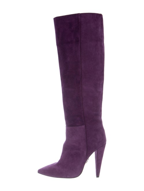 Pinko Suede Boots Purple
