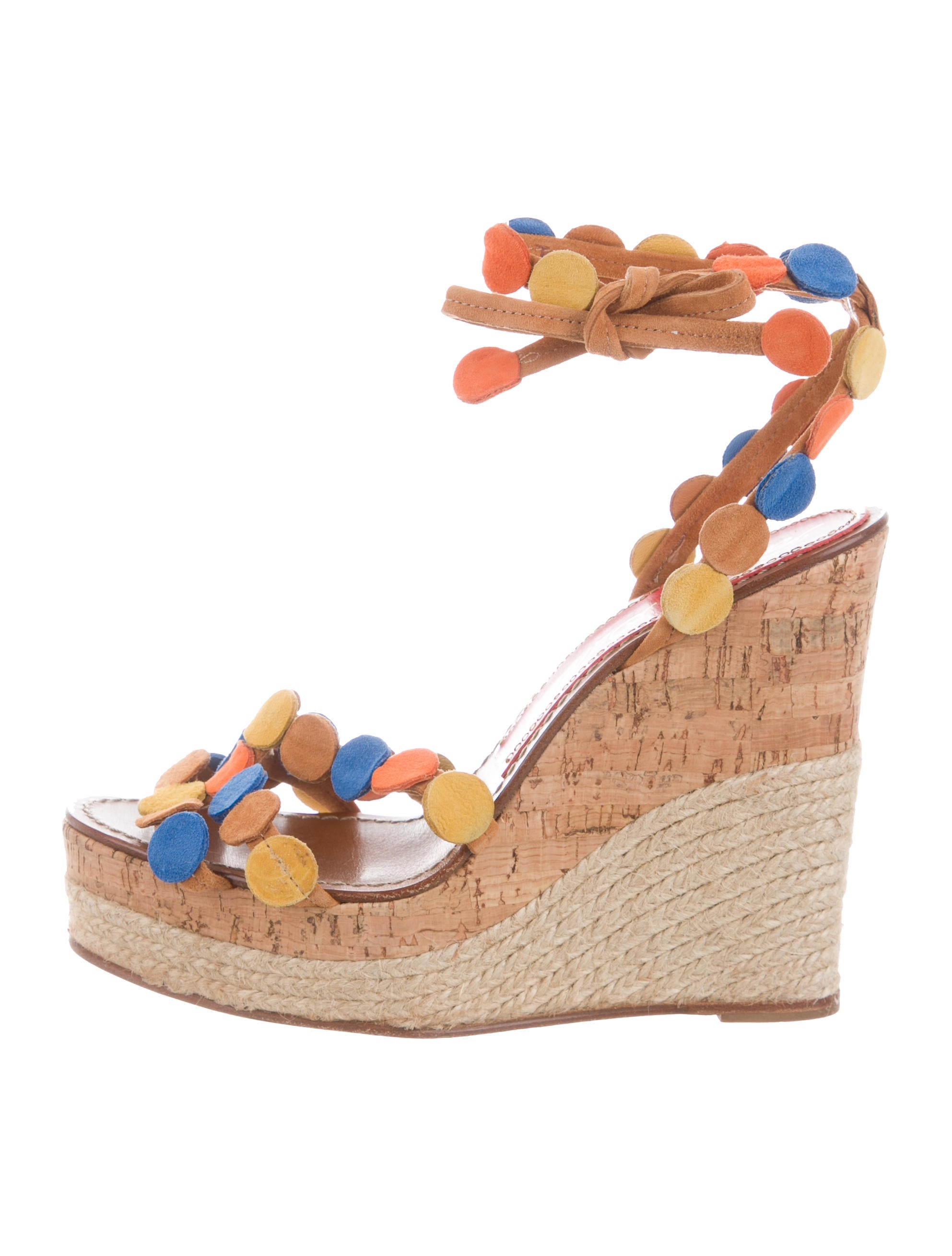 cheap sale pick a best buy cheap free shipping Barceló Paloma Berceló Suede Embellished Wedges cheap sale really fKzk0
