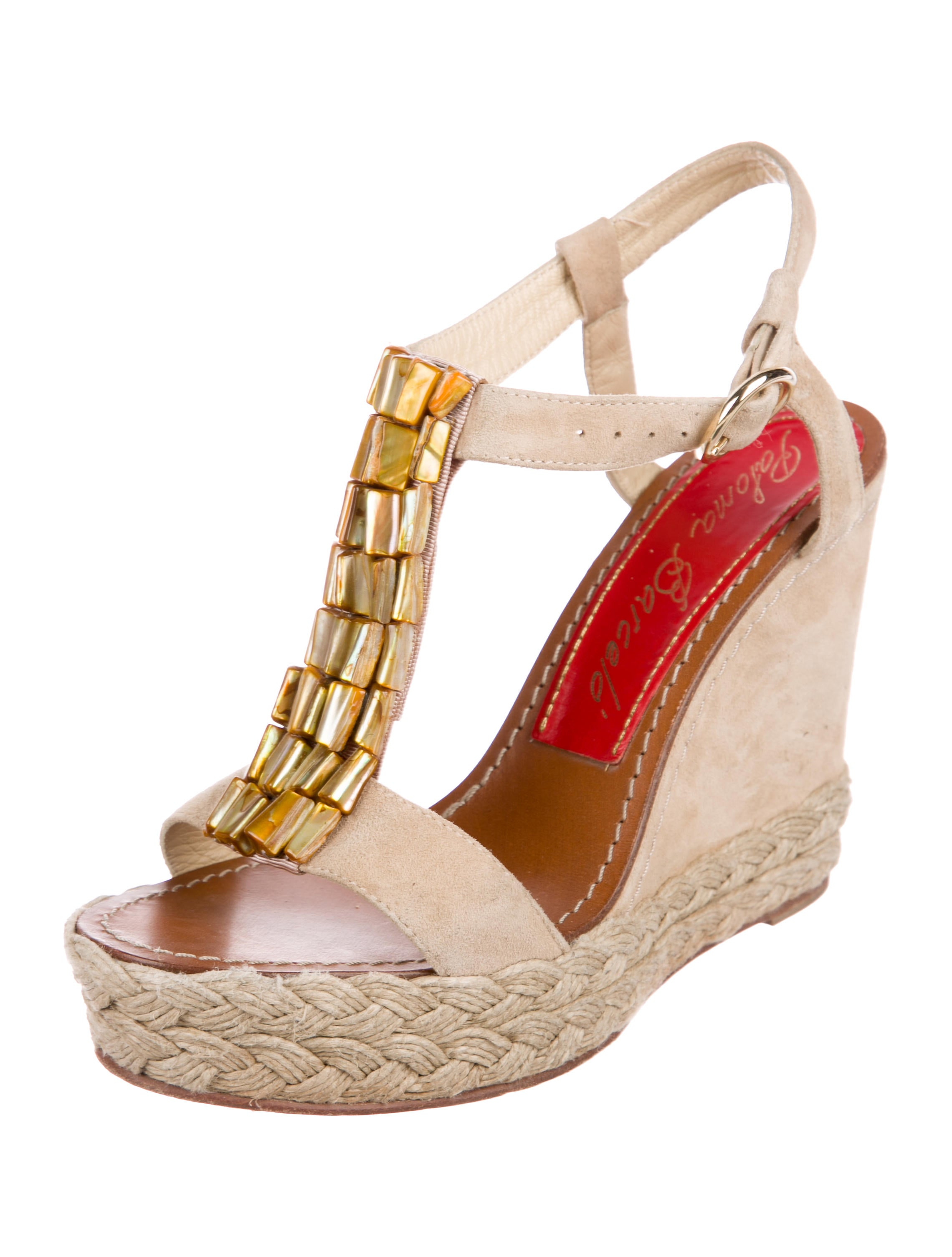 cheap best seller new cheap price Barceló Paloma Berceló Suede Embellished Wedges ICiyhyxQ9