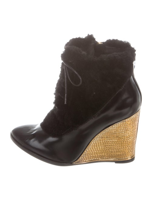 Paloma Barceló Kate Wedge Ankle Boots w/ Tags Blac