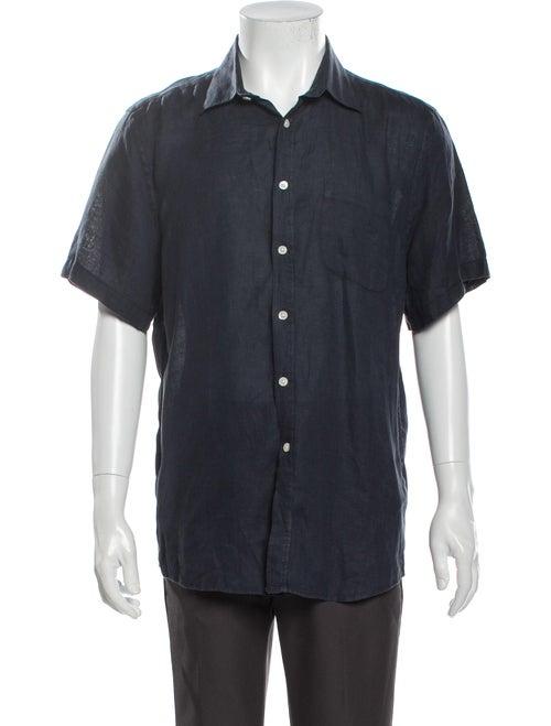 Portuguese Linen Short Sleeve Shirt Blue